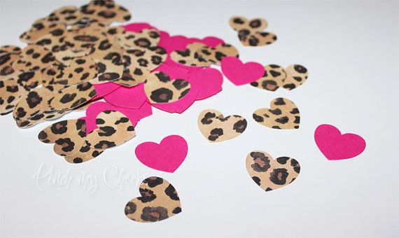 Hey, I found this really awesome Etsy listing at https://www.etsy.com/listing/183524966/leopard-cheetah-hot-pink-confetti-hearts