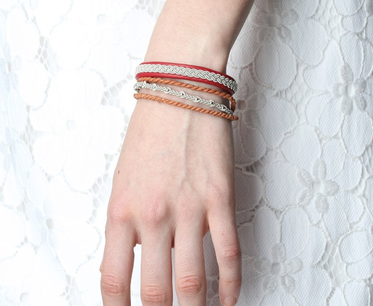 Maria Rudman red bracelet. Every, woman in my family owns one of these, in multiple colors.