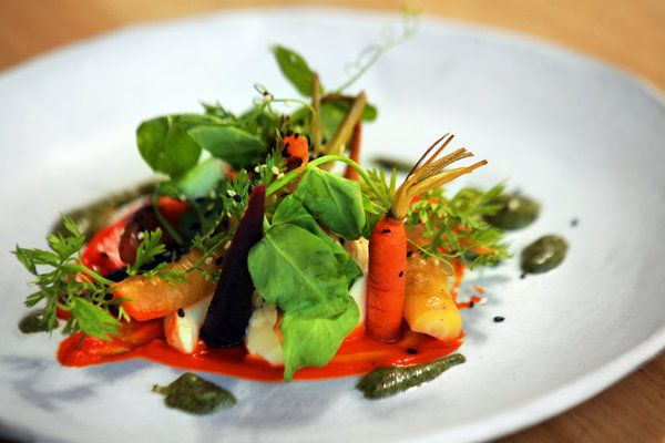 Cedar-Roasted Carrots With Tofu and Carrot Pesto Recipe - NYT Cooking