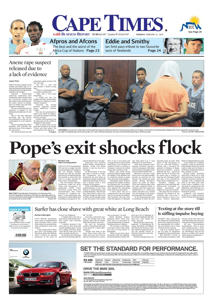 News making headlines: Pope's exit shocks flock