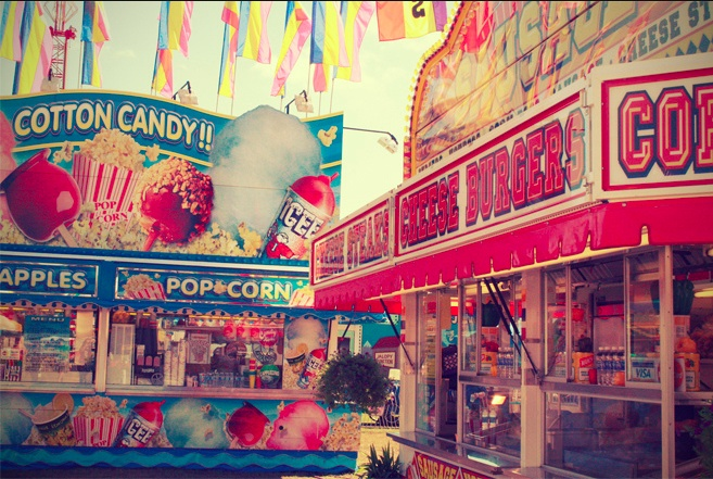 fun fairs = candy floss , rides and ferris wheels PERFECT
