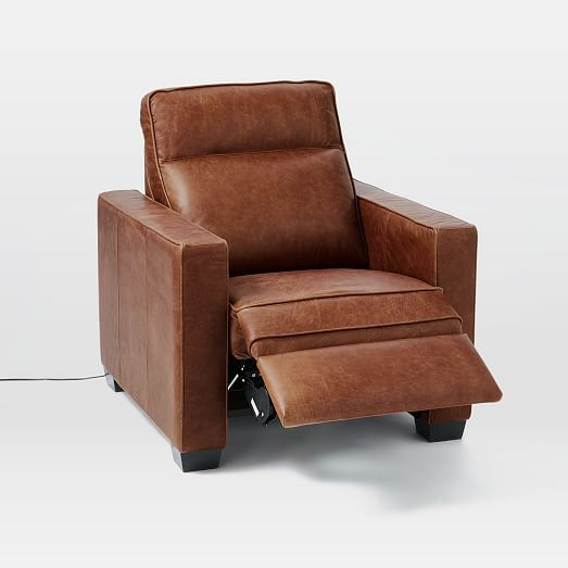 Henryu0026#174; Leather Power Recliner Chair : upholstered reclining chairs - islam-shia.org