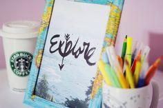 Meninices da Vida: Faça você mesmo: Porta retrato de mapa