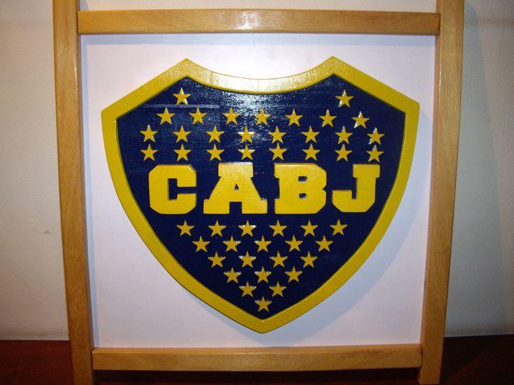 Boca Juniors: Cuadro realizado en maderas de 1 pulgada, caladas y pintadas. Escudos y logos a pedido.