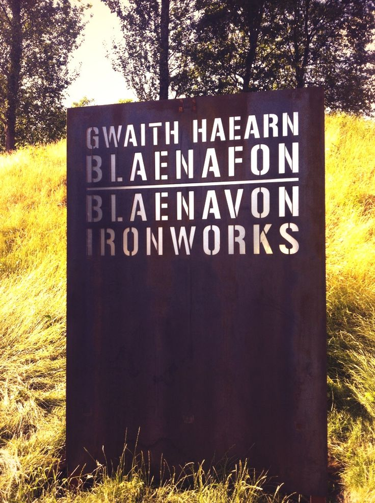 Bright3d Cor-ten signage at Blaenavon Ironworks World Heritage Site, Wales for Cadw www.bright3d.com