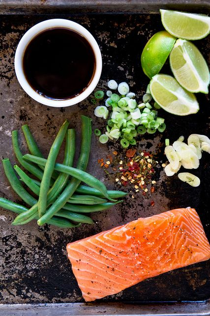 Foil Packet Salmon with Green Beans - easy, light, perfectly cooked, no cleanup! Use tamari, and sub 5-10 drops liquid stevia for the honey.