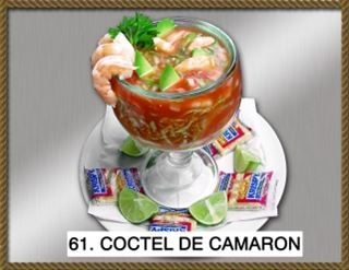 Coctel De Camaron :16 oz. Mexican shrimp cocktail mixed with tomato, oil, black pepper, onions, and cilantro from Pico Pica Rico Restaurant in Los Angeles #Food #Maxican #Restaurant forked.com