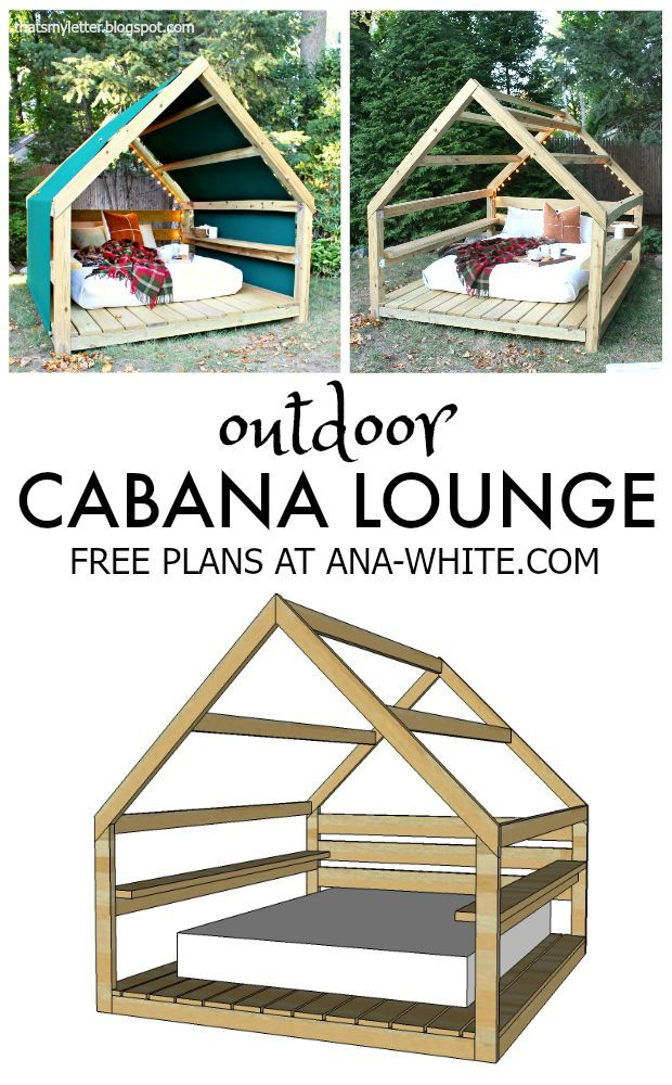 free plans diy outdoor cabana lounge                                                                                                                                                                                 More