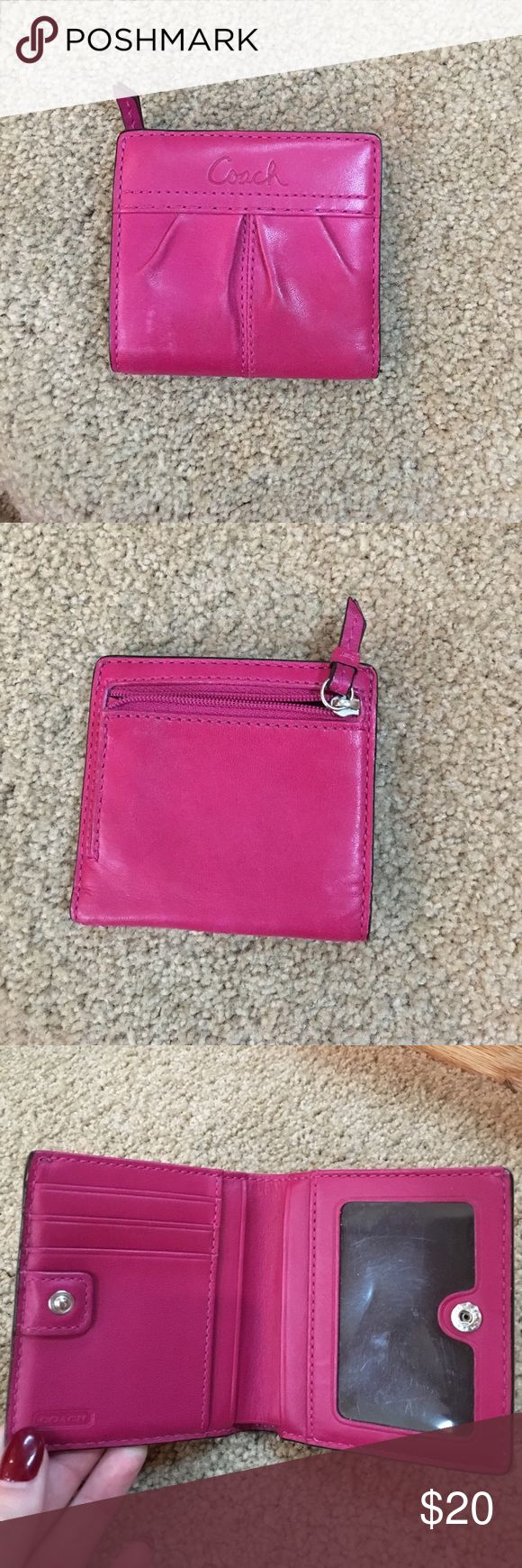 Coach Travel Wallet Mini Travel Wallet - Lightly worn - leather Coach Bags Wallets