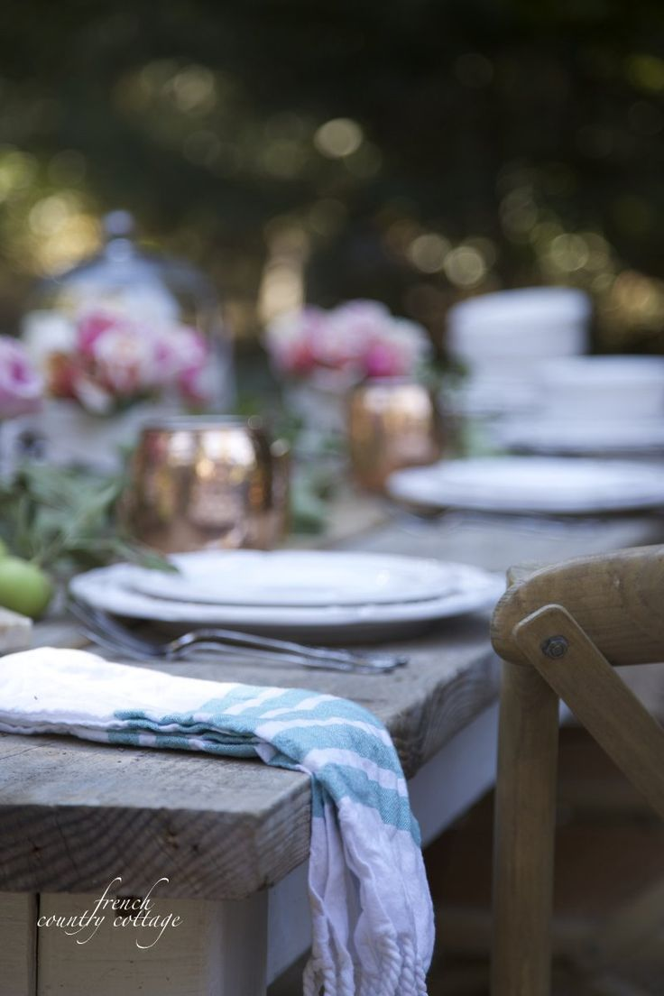 Entertaining~Inspired Outdoor Brunch (FRENCH COUNTRY COTTAGE). Outdoor Table  SettingsOutdoor ...