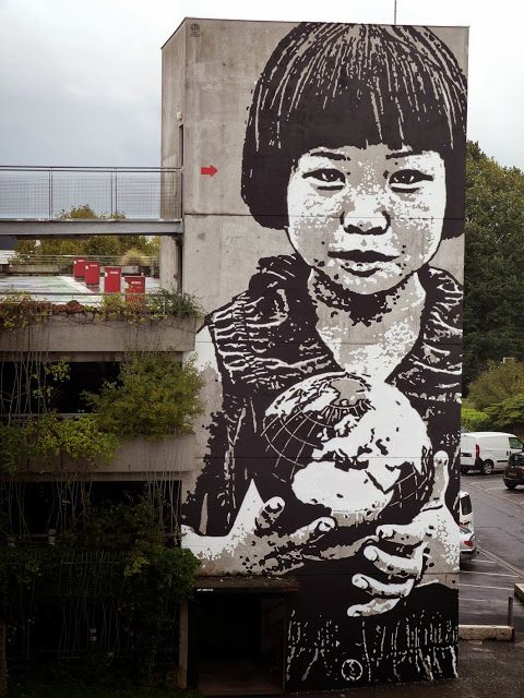 "Jef Aerosol ""This World Is Your World"" New Street Art - Bordeaux, France"
