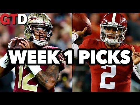 2017 College Football: Week 1 Picks Alabama vs. FSU, Michigan vs. Florida & More! | GTD