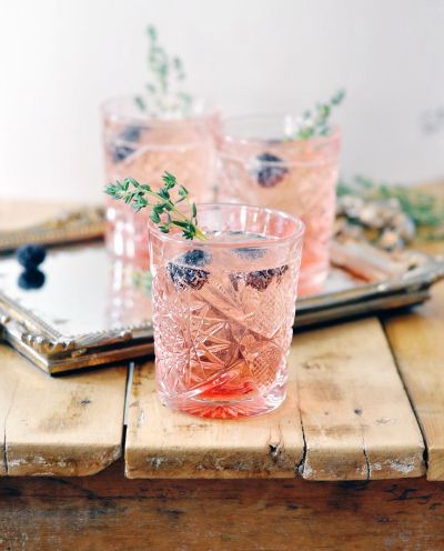 Pair berries and herbs with your champagne to make amazing party cocktails
