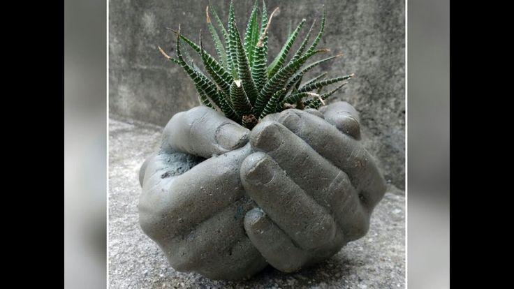 Mãos de Cimento com Molde de Alginato