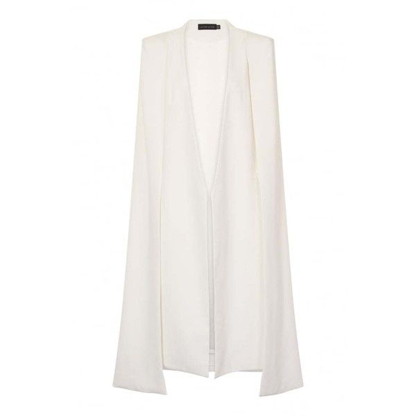 Lavish Alice Off White Maxi Belted Cape Blazer ($130) ❤ liked on Polyvore featuring outerwear, jackets, blazers, off white blazer, cape blazer, off white jacket, blazer jacket and cape coat