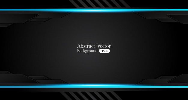 Abstract Metallic Blue Black Frame Design Innovation Concept
