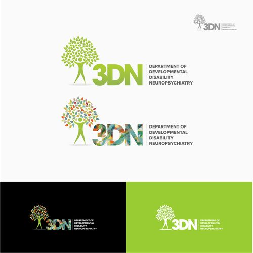 """3DN"" and ""Department of Developmental Disability Neuropsychiatry"" �20Create a logo for a specilist psychiatry department at a leading university"