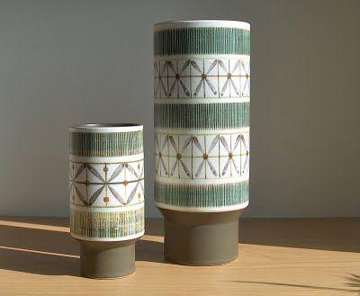 Potshots: Retro Denby Langley vases.