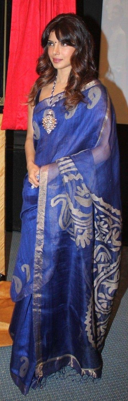 Priyanka in Blue saree