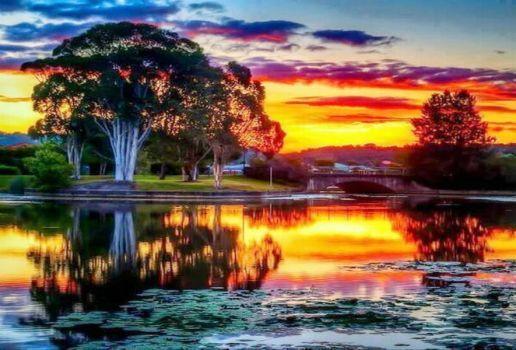 Nový Zéland -  západ slunce (15 pieces)