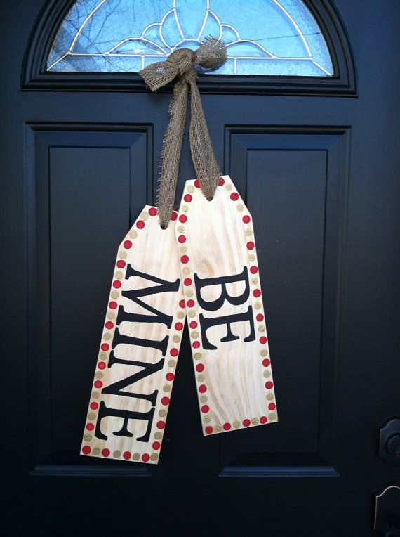 Be Mine Door Tags by TaggedWithLove1 on Etsy