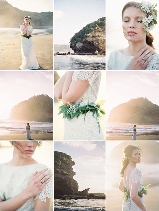 beach bridal session