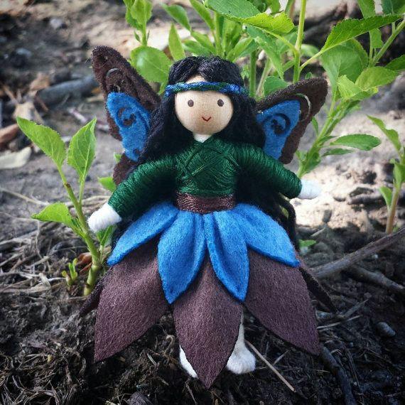 Woodland Fairy Doll (blue & brown)