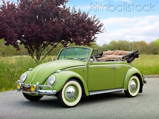 My next car will look something like this...no computer or expensive parts and that quintessential sputter & rev!  Volkswagen Bug Convertible Green