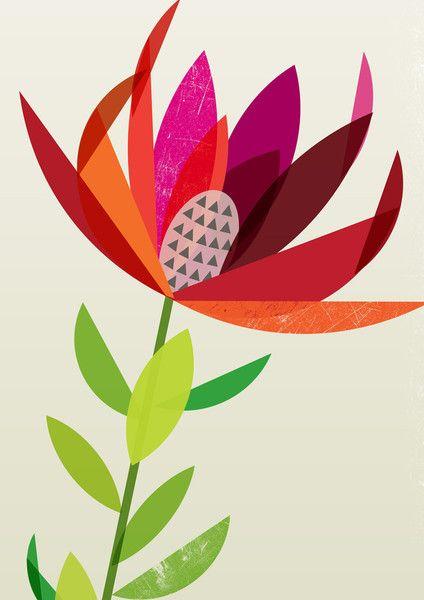 Leucadendron Artist Print.  Ink & Spindle Textile Design.