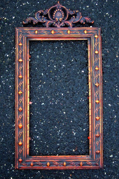Ornate Picture Frames (2) each 1'x 2'Mirrored Mint. $35