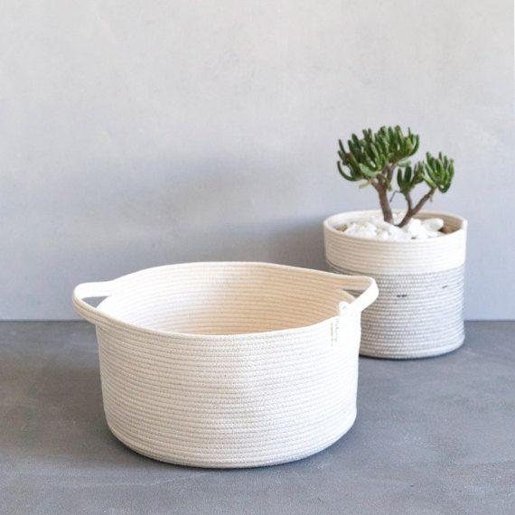 Basket With Handles / Rope Basket / Fruit Basket by MiaMelange