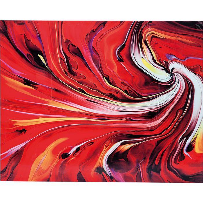 Tableau en verre Chaos Fire 150x120cm - KARE Design