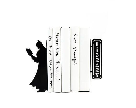batman reading bookends