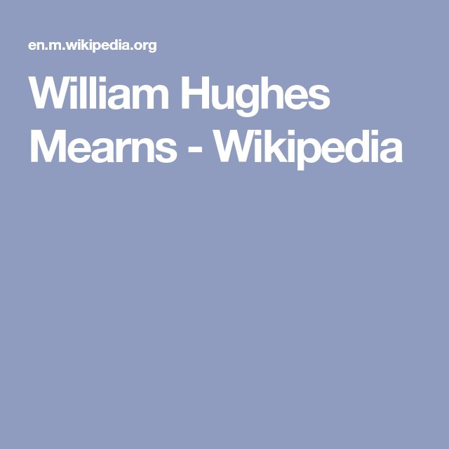William Hughes Mearns - Wikipedia