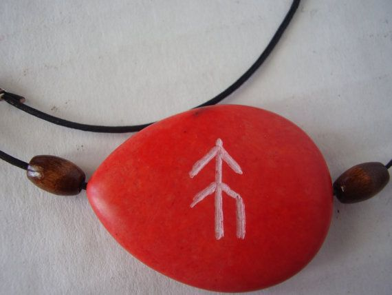 Rune Symbol of HOPE engraved stone by winterdays on Etsy, $15.00