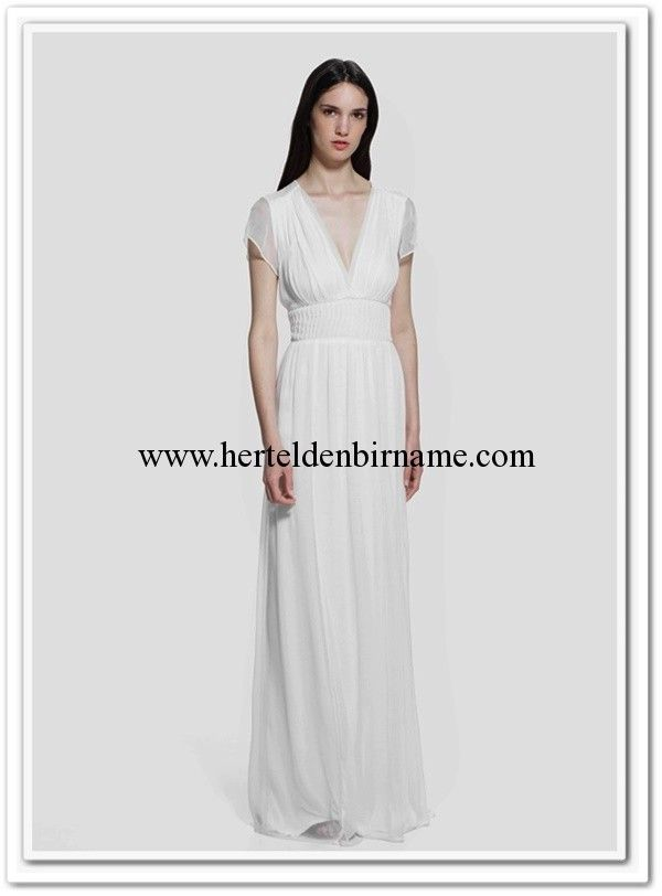 Mango 2015 kırık beyaz uzun elbise #mango #elbise #dress #white #long dress #maksi #fashion #moda