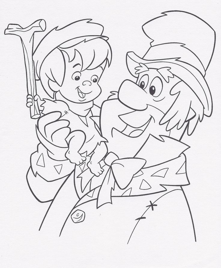 A Flintstones Christmas Carol Coloring Sheet 1995