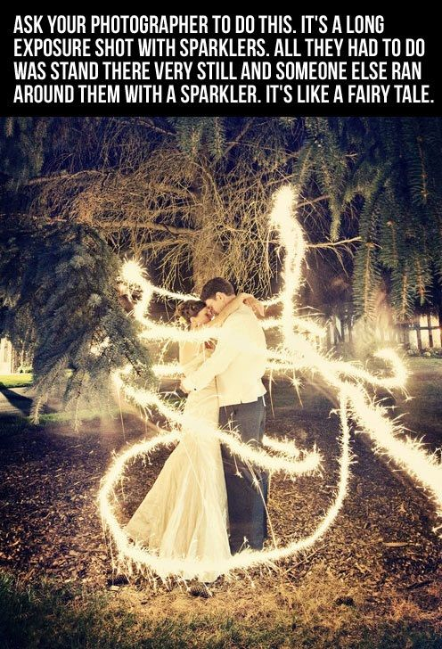 Fairytale Wedding sparklers! it's be even better if you went from one side, spun around and went to the other
