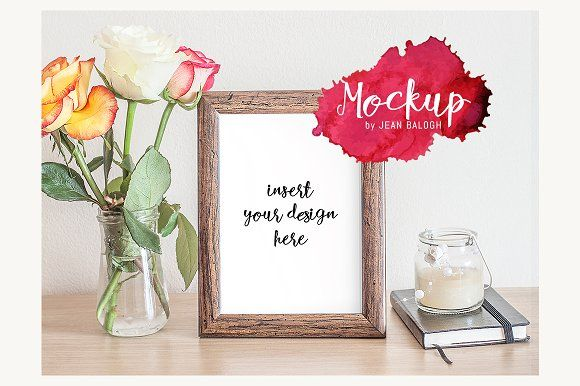 Wooden Frame Mockup  by Jean Balogh on @creativemarket