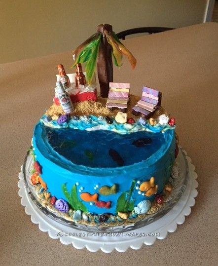 Birthday Cake Ideas Beach : 17 Best ideas about Beach Birthday Cakes on Pinterest ...