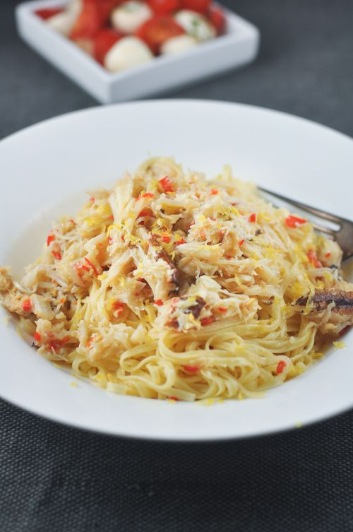 James Makes Pasta and a recipe for Angel Hair Pasta with Crab, Chilli and Lemon