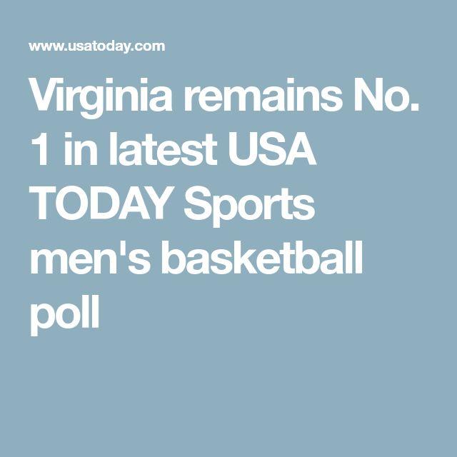 Virginia remains No. 1 in latest USA TODAY Sports men's basketball poll  http://heysport.biz/index.html