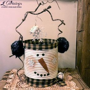 """FROSTY FRIENDS"" BUCKET Oct. 18th, 19th or 20th Sharon Culver Start your ""Frosty Friends"" collection with this cute and totally unique snowman bucket! (Cost $20+tax)"