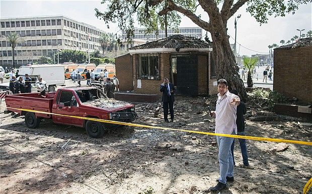 Three people were killed in three bomb blasts outside Cairo University, in EGYPT, on Wednesday - 04042014