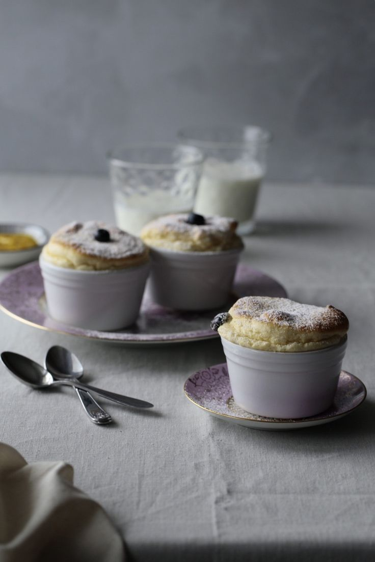 Blueberry souffle