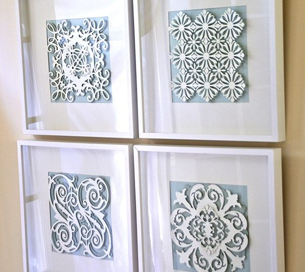 Embellished wall art layout by Anna Griffin. Make it Now with the Cricut Explore machine in Cricut Design Space.