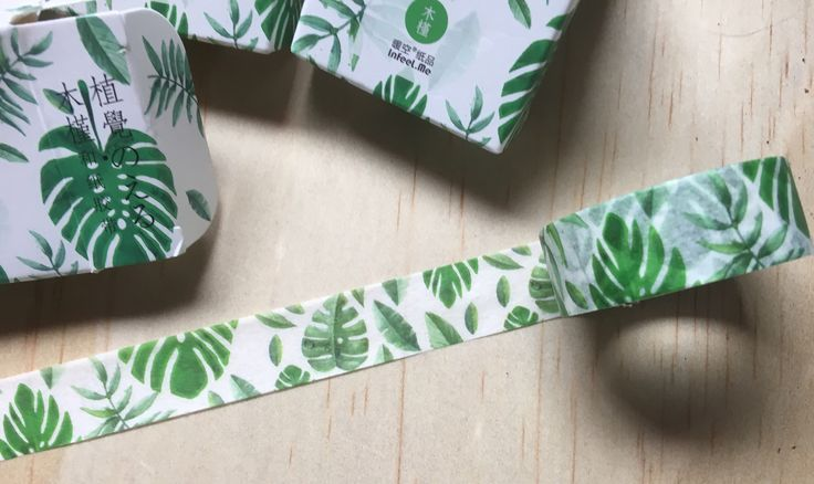 A personal favourite from my Etsy shop https://www.etsy.com/au/listing/555365022/green-leaves-tropical-washi-tape-high