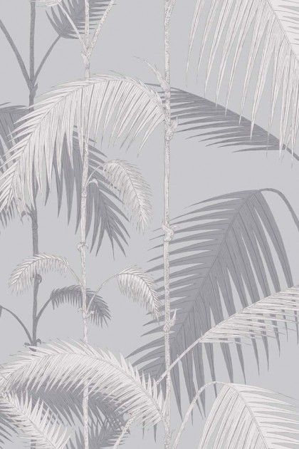Cole & Son - Contemporary Restyled - Palm Jungle - Lilac Grey & Grit