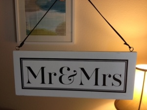 """""""Soon to be"""" """"Mr and Mrs"""" Sign Make for engagement photos easier to carry than letters"""