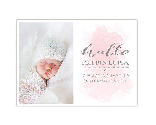 Geburtskarte, Geburtsanzeige, babykarte
